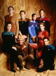 DS9 cast promotional shot