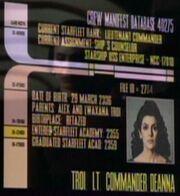 Deanna Troi personnel file