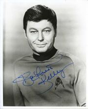 DeForest Kelley autographe