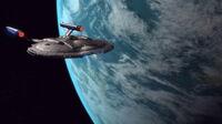 Enterprise (NX-01) im Orbit der Akaali Heimatwelt