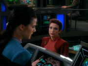 Jadzia Dax and Kira Nerys search for Rio Grande