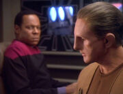 Benjamin Sisko and Odo, 2369