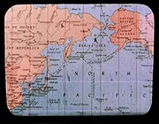 Earth map, 20th century, North Pacific
