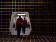 Jake und Benjamin Sisko verlassen ein Holodeck