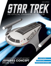 Star Trek Official Starships Collection USS Enterprise Shuttlecraft Jefferies Concept cover