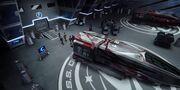 USS Discovery shuttlebay