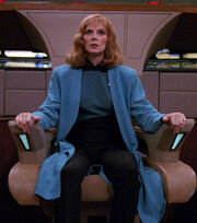 Beverly Crusher in command, 2367