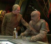 Morn (hologram) and Odo