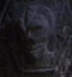 Stone humanoid head