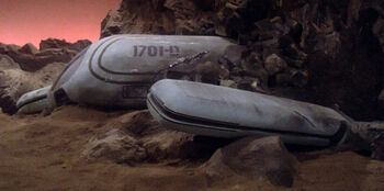 Shuttlecraft 13 crashed on Vegra II