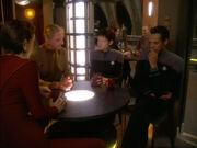 Kira Nerys, Odo, Ezri Dax, and Julian Bashir