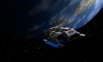 The USS <i>Rio Grande</i> approaches Rakhar