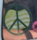 Car window peace symbol