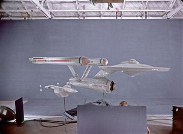 DY-100 and USS Enterprise studio models filmed at Film Effects of Hollywood