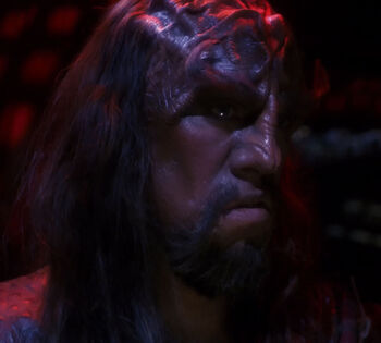 ...as the Klingon weapons officer