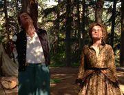 Q und Janeway vor der Hinrichtung