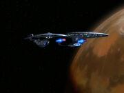 USS Enterprise-D und USS Hood bei Deneb IV