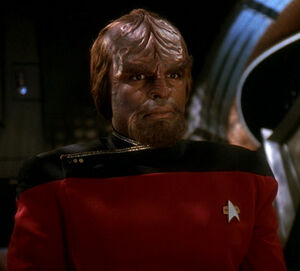 Worf at his hearing