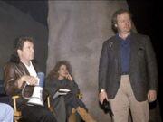 Bran Ferren with William Shatner on the Sha-Ka-Ree set