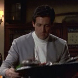 ...as a waiter