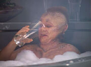 Neelix in bath tub