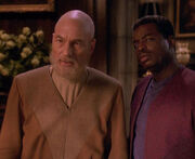 Picard and La Forge with beards