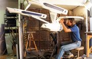 USS Enterprise studio model wiring worked upon by ILM's Eric Christensen
