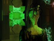 Borg Queen watches her drones turn silent