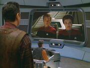 Janeway Hologramm entdeckt die Rebellion
