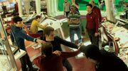 Shooting Kirk-Spock Vulcan nerve pinch