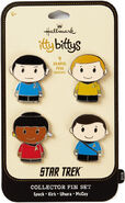 Hallmark 2018 Itty Bittys Star Trek Collector Pin Set
