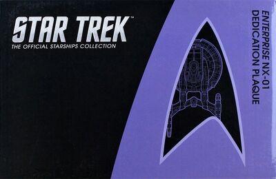 Raumschiffsammlung verpackte Widmungsplakette Enterprise (NX-01)