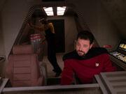 Riker und La Forge im Shuttle