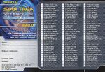 Star Trek Deep Space Nine - Memories from the Future Ballot Front