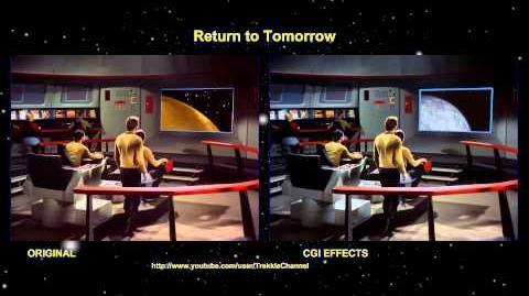 """TOS """"Return to Tomorrow"""" - """"Retour sur soi-même"""" - comparaison des effets spéciaux"""