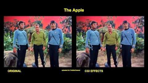 """TOS """"The Apple"""" - """"La pomme"""" - comparaison des effets spéciaux"""