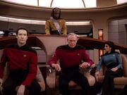 Captain Jellico kommandiert die Enterprise