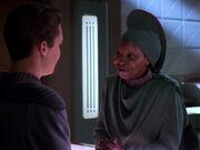 Wesley tells guinan about nanites - evolution