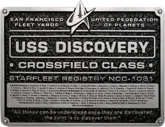 Eaglemoss USS Discovery Dedication Plaque