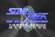 Star Trek The Next Generation Viewers Choice Marathon title card