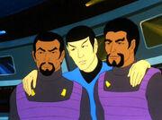 Spock with Klingons