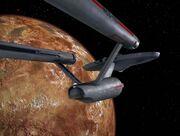 Enterprise im Orbit von Tycho IV