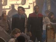Sisko erklärt Geschichte der Schutzzonen