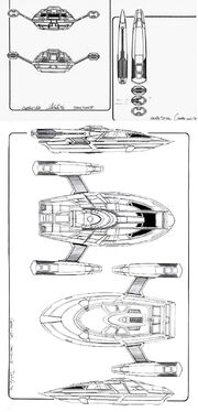 Sovereign class Captain's Yacht Cousteau orthographic views by John Eaves