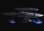 USS Phoenix at warp