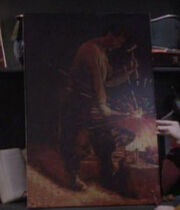 Blacksmith painting