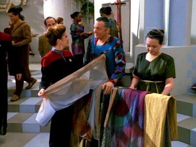 Janeway auf dem Markt
