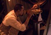 Sisko using sextant