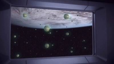 Cloaked romulan minefield