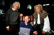 Einstein Hawking Newton